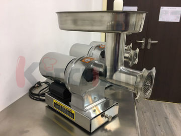 304 Stainless Steel Electric Meat Grinder with 3 Grinding Plates / Sausage Tubes